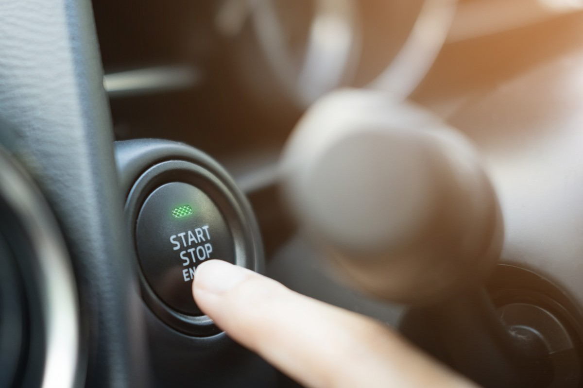 push to start button on vehicle